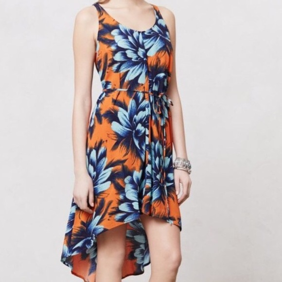 Anthropologie Dresses & Skirts - Anthropologie Maeve Sunset Hibiscus Hi Lo Dress